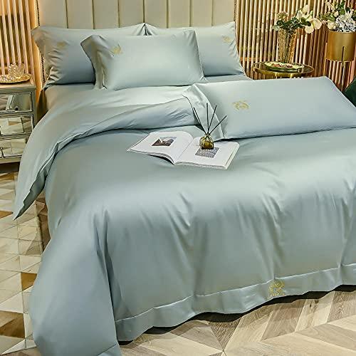 Bedding-LZ bettbezug 180 x 200,Sommer Wasserwasch-Seide-Seide-Seide-Vier-teiliges Bettblatt Wird verwendet-ich_1,5m Bett...