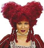 shoperama Barroco Mujer Peluca Reina Rojo Corazón de Alicia en el país de Las Maravillas Reina Renaissance rococó