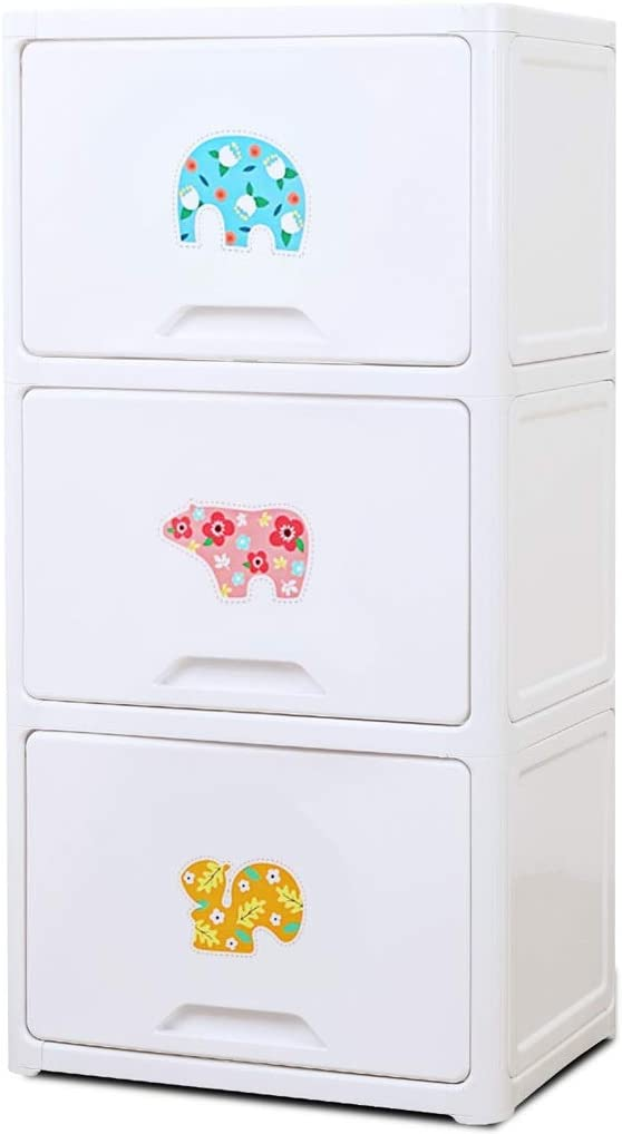 OMING Wardrobe Simple Plastic Storage Cabinet Free Three quality assurance Drawers 5 ☆ very popular
