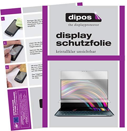 dipos I Protector de pantalla transparente compatible con Asus ZenBook Pro Duo