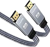 4K@60HZ Cable HDMI 2M, Snowkids Plano HDMI 2.0 de Ultra Alta Velocidad 18Gbps Soporte 3D UHD 2160P Ethernet HDCP 2.2 ARC Último Estándar Fire TV Compatible, PS4/PS3/PC-Gris
