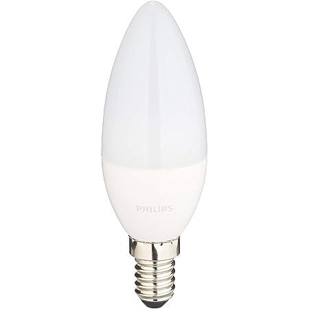 2x Philips Dimmable DEL Blanc Chaud Classique Bougie 5 W = 40 W 470 lm B22 Ampoule