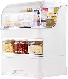 SCDZS Double couche Assaisonnement Bouteille, Boîte Assaisonnement Fournitures de cuisine Support de rangement Boîte avec ...