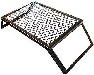 【coleco】アウトドア キャンプ テーブル メッシュテーブル 焚き火テーブル クッカースタンド 61×40