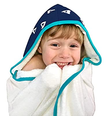 Kids Hooded Towel Extra Large - Ultra Soft Bamboo Towels To Fit Your Toddler to Little Kid | Hypoallergenic & Antibacterial |Oversized with 2 Layer Hood for Warmer Girls & Boys After Bath, Beach, Pool