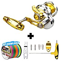 Offshore Fishing Reels, a Trolling Reel for Saltwater Fishing with Bite Alarm