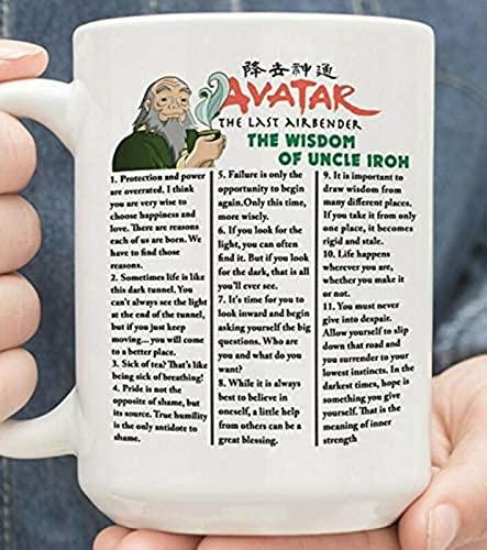 GDEVNSL Bienvenido a Personalizar Avatar The Last Airbender The Wisdom of Uncle Iroh - Taza de café Blanca de 11 oz