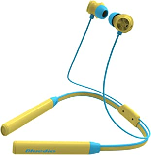 Baosity Bluetooth Neckband in-Ear Earbuds Noise Canceling Headset with Microphone Wireless Stereo Sports Earphones for Exercising, Biking - Yellow
