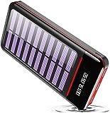 RLERON Batería Externa Cargador Solar Portátil 25000mAh, Power Bank ultra Capacidad con USB C & Micro 2 Entradas y 3 Puertos de Salida para Android/iOS Phones, Tablet y Otros Smartphones