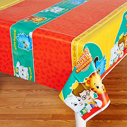 Birthday Express Daniel Tiger Party Supplies - Plastic Table Cover