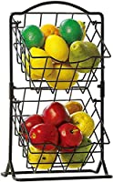 SKAFA Iron Storage Basket with 2 Tiers, 56X31X33 cm, Black