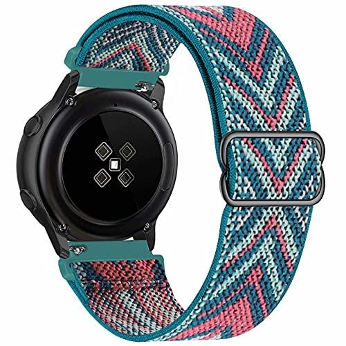 GBPOOT 20mm Armband Kompatibel mit Samsung Galaxy Watch Active 2(40mm/44mm)/Watch 3 41mm/Watch 42mm/Gear S2,Einstellbares Nylon Armbänder Weiche Sport Ersatzband,Green Arrow,20mm