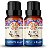 GuruNanda Calming Sleep Essential Oil (Pack of 2) - Ease Your Mind with Lavender and Other Soothing Oils, 100% Pure Therapeutic Aromatherapy Blend for Relaxing Bedtime (15ml x2)