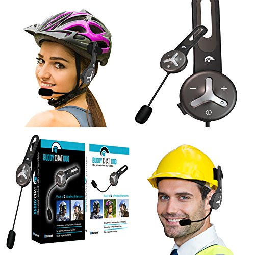 BuddyChat Duo Bluetooth Intercom Helm Headset Freisprechanlage Funkgerät 1000m