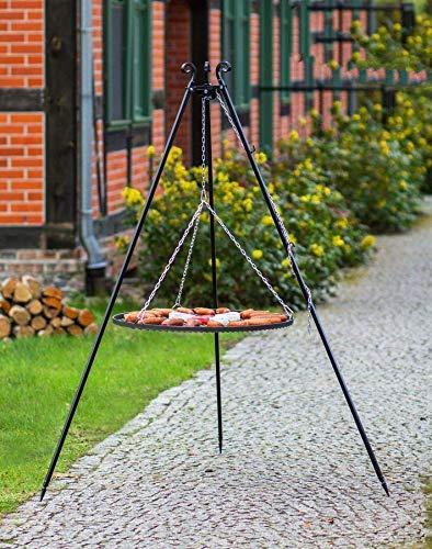 BlackOrange Barbecue suspendu 180 cm avec grille en acier Ø 70 cm