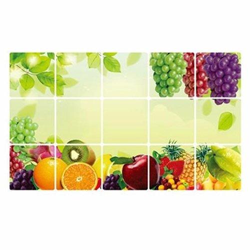 Bodhi2000 - Adhesivo de pared para azulejos (45 x 75 cm), diseño de frutas