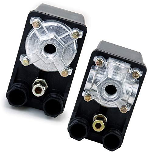 KESOTO 2Pc Tap 380V 20A Compresor de Aire Interruptor de Presión Control Resistente