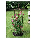 EQT-TEC Edelrost Rankhilfe Rosenbogen Spalier 170 cm Garten Rosen Bogen Deko Pflanzen