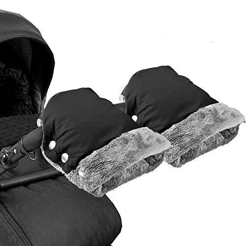 vitutech Handwärmer Kinderwagen, Handschuhe Handmuff mit warme Fleece und Baumwolle Innenseite, Wasserdicht, windabweisend atmungsaktiv Fingerwärmer, Universalgröße für Kinderwagen, Buggy, Radanhänger