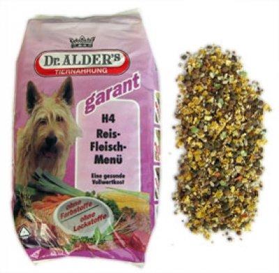 Dr Alder Hundefutter H4 Reis-Fleisch-Menü 15 kg