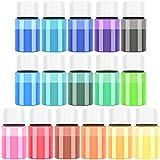 Epoxidharz Farbe - 160g(16er x 10g) Seifen Farben Pigment - Kosmetische Mica Pulver Schleimfarben...