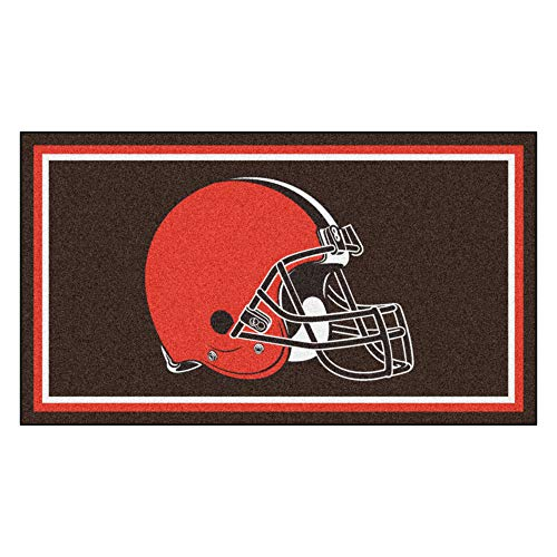 FANMATS NFL Cleveland Browns 3 Ft. x 5 Ft. Area RUG3 Ft. x 5 Ft. Area Rug, Brown, 3' x 5' (19864)