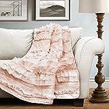 Lush Decor Lush Décor Belle Throw, 60 inch x 50 inch, Pink Blush, 60' X 50'