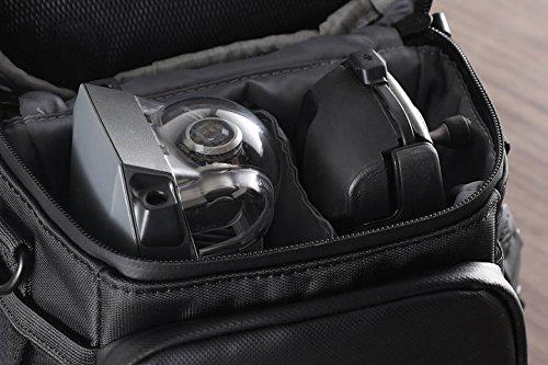 DJI Mavic Pro - Umhängetasche für Mavic Pro Zubehör, 1 Fluggerät, 1 Fernsteuerung, 4 Batterien, 1 Smartphone etc. - Schwarz