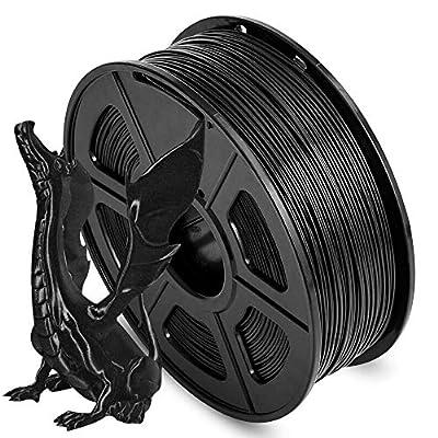 AnKun ABS 3D Printer Filament, 1.75 ABS Filament Dimensional Accuracy +/- 0.02 mm, 1 kg Spool, 1.75mm, ABS Black