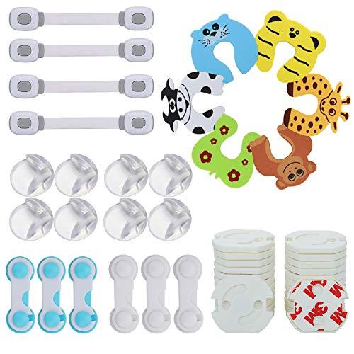 LENBEST 48 Pcs Kit de Seguridad para Bebés, Kit Seguridad Bebe(8 Protectores...