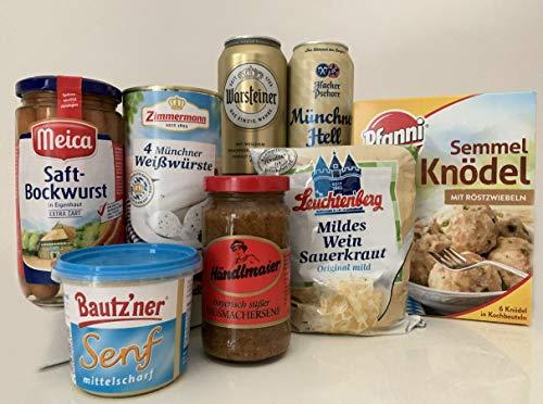 Cesta de regalo WURST de delicatessen con salchichas, chucrut y cerveza tradicional alemana