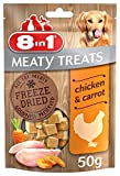 8in1 Meaty Treats for Dogs - Cubes of Freeze Dried Chicken and Carrots, 50 g