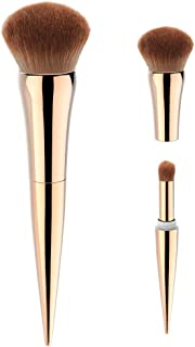 Makeup Brushes,BESWILL 2 in 1 Makeup Brush Set For Powder and Eyeshadow with Ergonomic Design- Perfect For Blending Liquid, Cream or Flawless Powder Cosmetics(Gold)