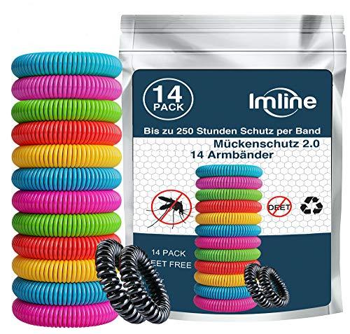 Mückenschutz Armband (14 Stück) Armbänder zum Schutz gegen Mücken Camping Mückenarmband wandern Zubehör