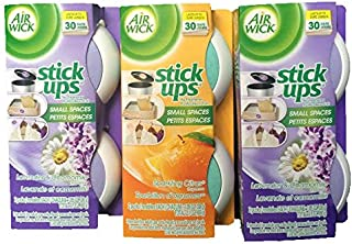Air Wick Stick Ups for Small Spaces-Lavender & Chamomile and Sparkling Citrus-Total 6 Fresheners will last for 180 days