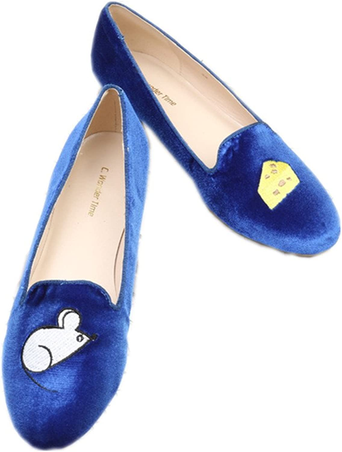 C. Wonder Time bluee Ballet Flats Loafers Espadrilles shoes for Womens
