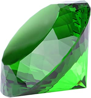 Crystal Glass Diamond Shaped Decoration, Green 60mm Jewel Paperweight,Gift Decoration Idea For Christmas, Thanksgiving (Please identify our brand Yarr Store)