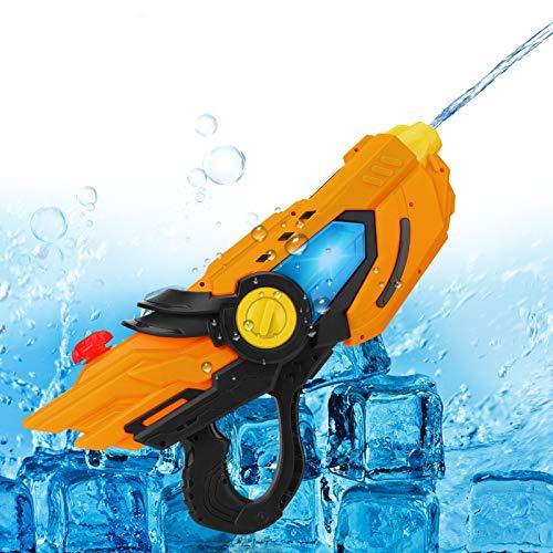 Wasserpistole, CestMall Elektro-Wasserpistole Spielzeug mit leichtem Wasser Blaster mit 600ml Kapazität 6-10m Lange Schießstand Kunststoff Wasserpistole, Pool Wasser Spaß Spielzeug für Kinder Mädchen
