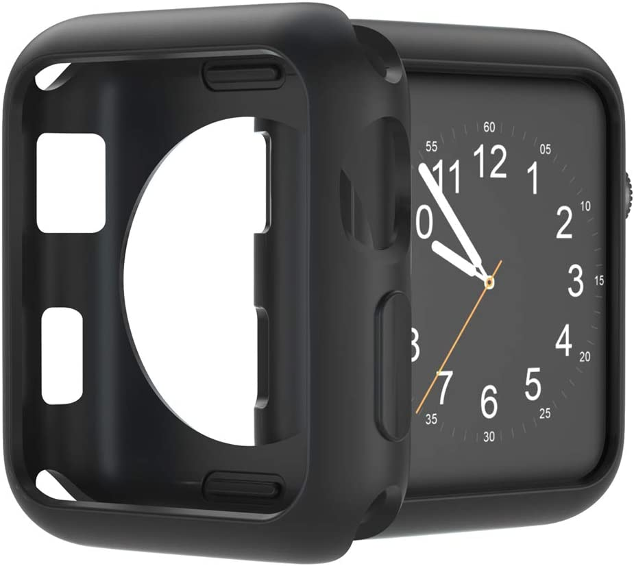 U191U Compatible with Apple Watch Case 38mm 42mm 40mm 44mm, Soft