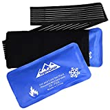 SupreGear Reusable Hot Cold Compress Gel Pack for Injuries, Therapy Ice Pack Wrap Support Knee Elbow Back Injury Recovery, Alleviate Pain Caused by Joint, Rotator Cuff and Muscle (2 Packs)