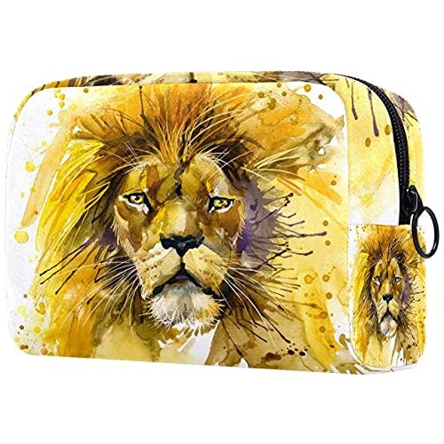 Sac De Voyage Cosmétique Lion King Lion Illustration Sac De Rangement pour Artiste Pochette À Glissière Organisateur Cosmétique De Voyage pour Femmes Et