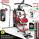 Sportstech Station de Musculation Multifonction Premium 45en1 HGX100/HGX200, Appareil Musculation Variantes d'entraînement. Home-Gym Multifonction, Station de Fitness, Construction Robuste (HGX260)