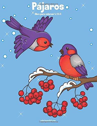 Loros Pájaros libro para colorear 1, 2 & 3