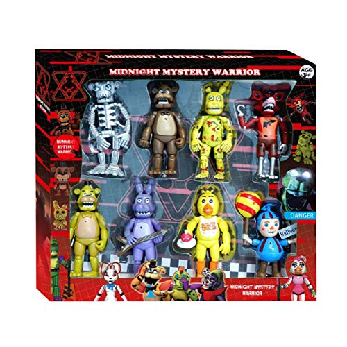 Zhongkaihua 1/6/8 pièces/Set de figurines FNAF 6,5 pouces Five Nights At Freddy'S Toys FNAF Ornements - Multi - Styles - Couleurs