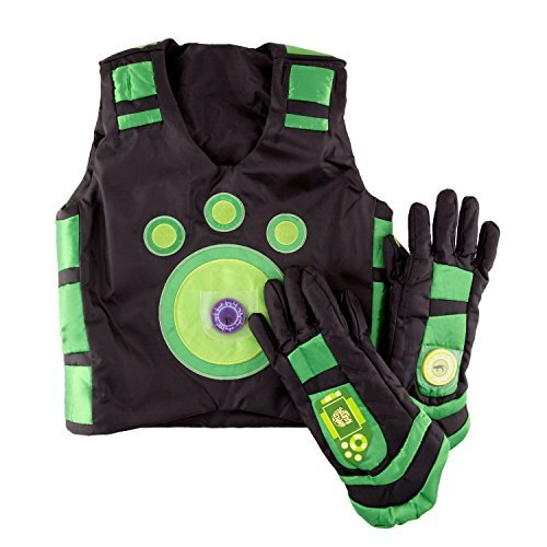 Wild Kratts Creature Power Suit, Chris - Large 6-8X - Includes Vest, Gloves and 2 Power Discs - for Dress Up, Pretend Play and Halloween - Ages 3+