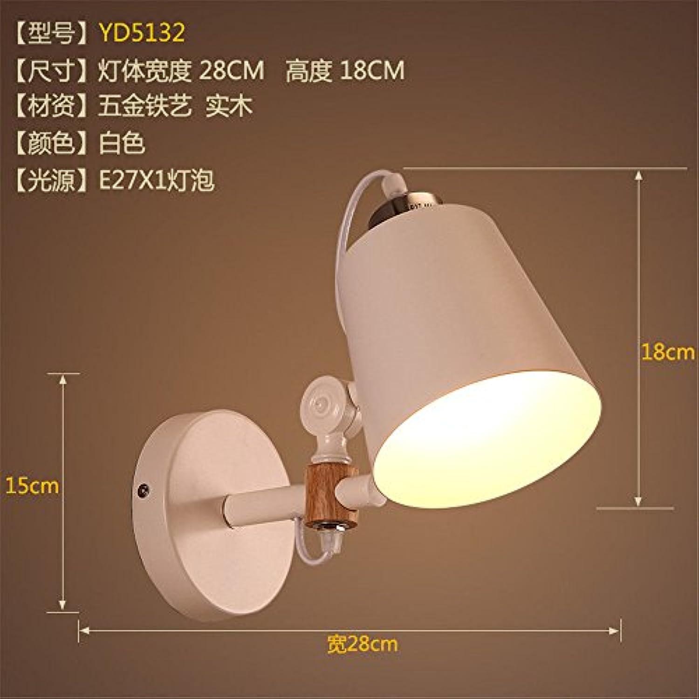 Lucky Fortress Wandleuchte schmiedeeisen holz stil studie gang treppe schlafzimmer nachttischlampe led wand wei 28  18 cm Wandlampe