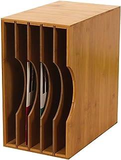 Sub-formato rack de almacenamiento de registro de LP, boda Restaurante Bar Disco de Juego Caja de almacenamiento de madera de la vendimia - Hold aproximadamente 50 hojas ( Size : 32.5*20*35CM )