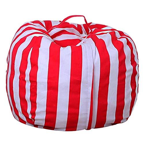 jinchuan Lagerung Sitzsack/Plüsch Spielzeug Beutel Home Storage Bag/Große Kapazität Sphärische Canvas Sitzsack/wasserdichte Aufbewahrungstasche Lagerung Sitzsack (Rosen-rote Streifen, 38 Zoll)