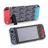 Vector Patrón sin costuras con colores brillantes compatible con consola Nintendo Switch y funda protectora Joy-Con, duradera y flexible absorción de golpes y arañazos Design39487