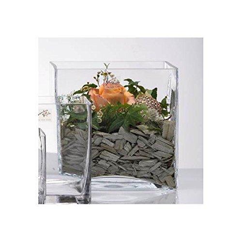 Sandra Rich Glasvase, Glaswürfel, Dekoglas Cube 30x30cm quadratisch transparent